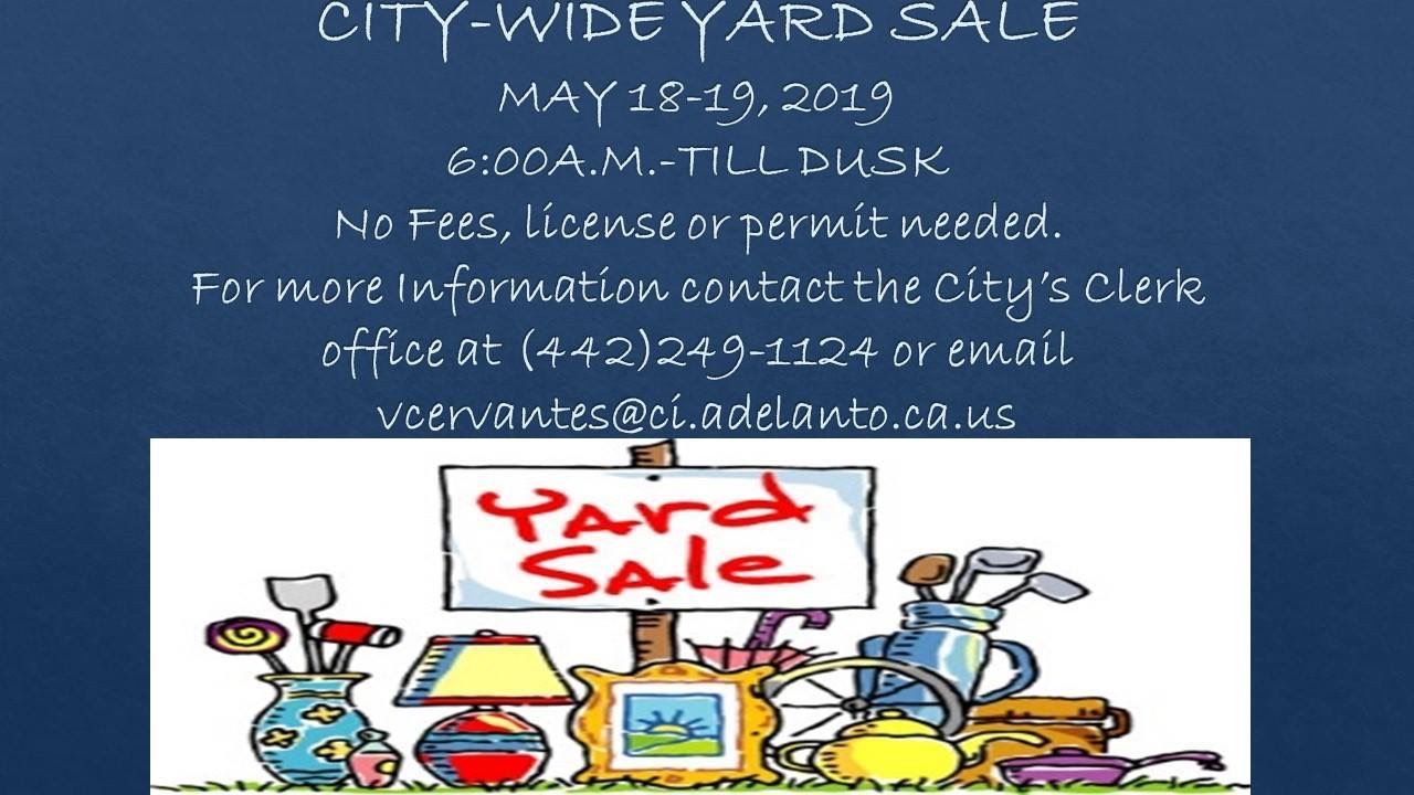 City Wide Yard Sale
