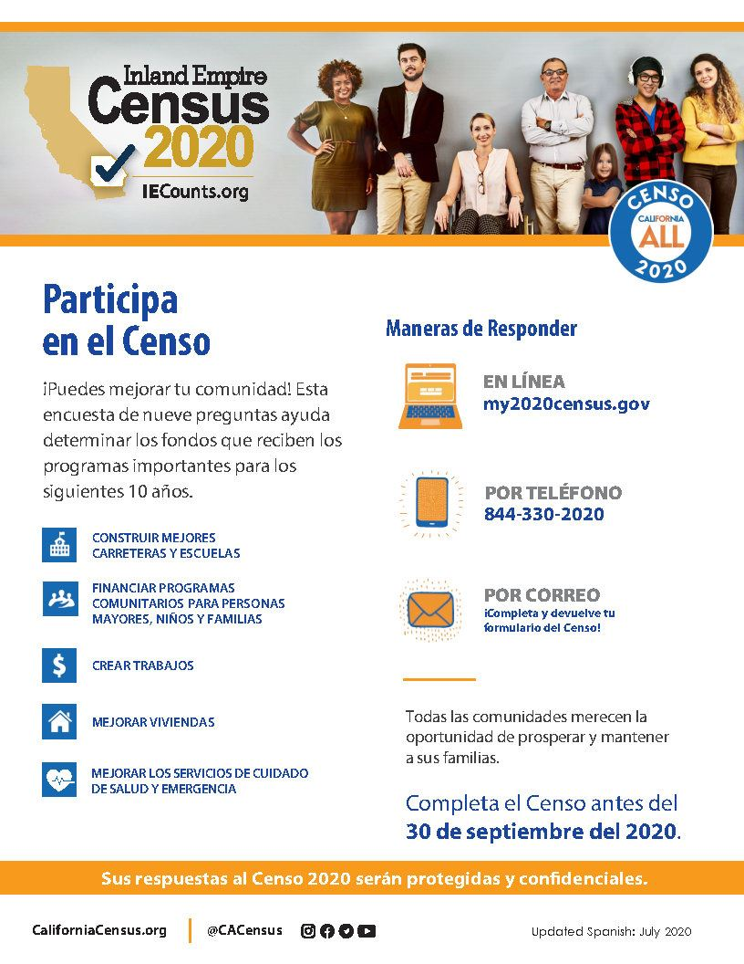 CA-IE Census Flyers Spanish