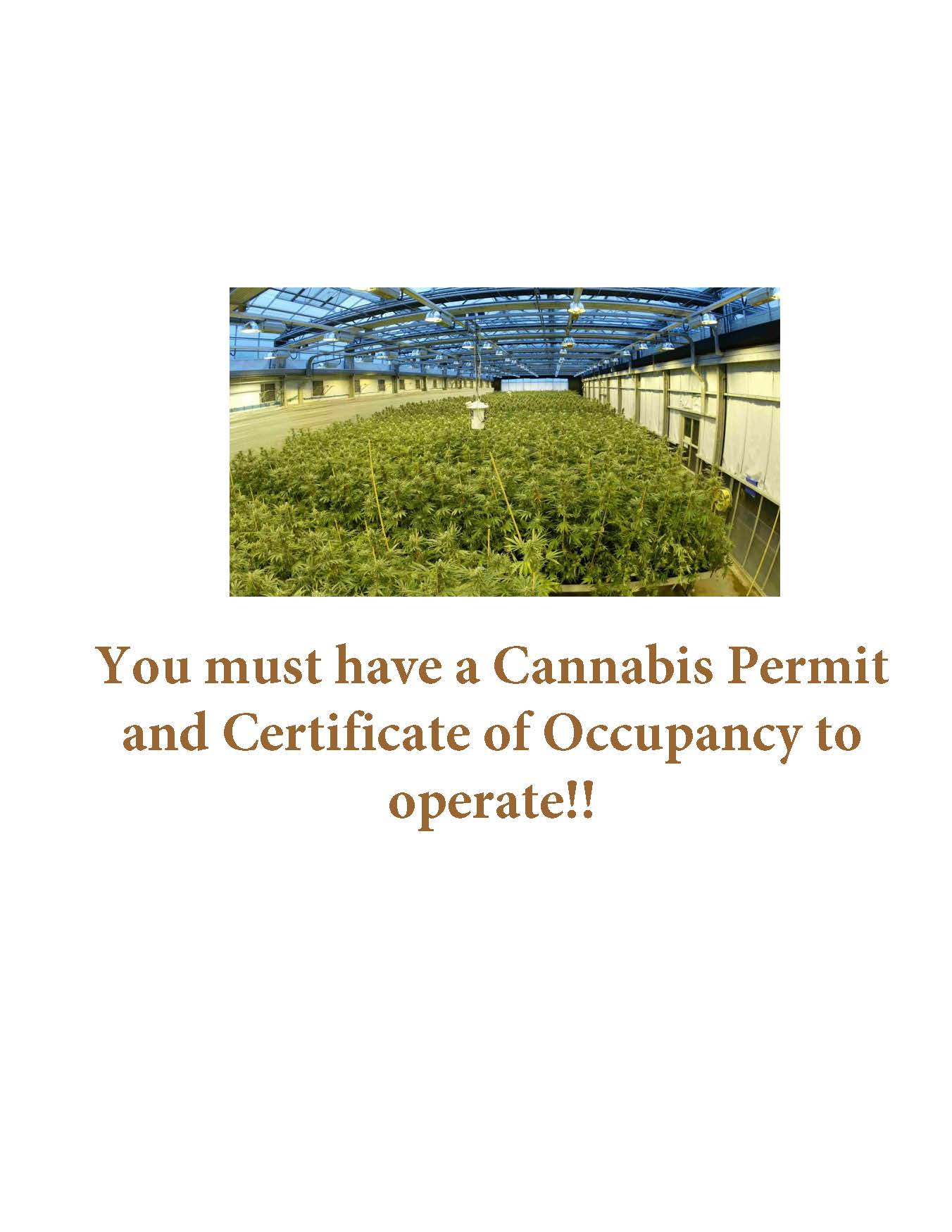 Must have Permit and CofO