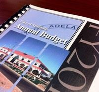 City Budget of City of Adelanto printed budget